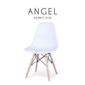 ANGEL (แองเจิ้ล) เก้าอี้โมเดิร์น โครงขาไม้ เบาะโพลีพรอพไพลีน สไตล์โมเดิร์น ขนาด : W46.5 x D50 x H82 cm.