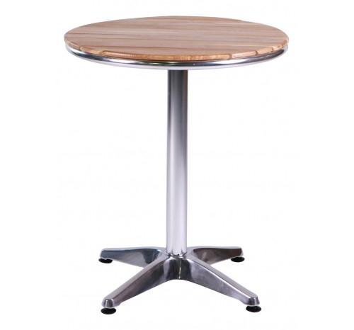 TERESA (เทเรซ่า) โต๊ะอลูมิเนียมหน้าท็อปไม้-0