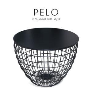 PELO (เปโล่) โต๊ะกลาง โครงขาเหล็ก ท็อปไม้
