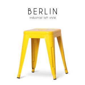 BERLIN (เบอร์ลิน) เก้าอี้สตูล โครงขาและเบาะเหล็ก สไตล์ลอฟท์ ขนาด : W30 x D30 x H48 cm.