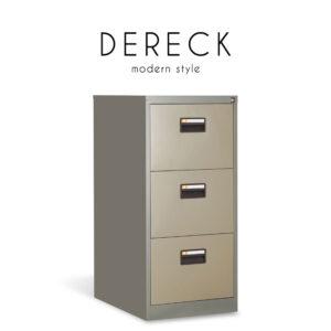 DERECK (เดเร็ค) ตู้เก็บเอกสาร โครงเหล็ก สำหรับเก็บเอกสาร 2-4 ช่อง สไตล์โมเดิร์น : ขนาด (2 ช่อง) W47 x D62 x H71.5 cm. / (3 ช่อง) W47 x D62 x H101.6 cm. / (4 ช่อง) W47 x D62 x H132 cm.