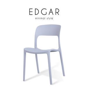 EDGAR (เอ็ดการ์) เก้าอี้โมเดิร์น โครงขาและเบาะโพลีพรอพไพลีน สไตล์มินิม่อล ขนาด : W41 x D43 x H82 cm.