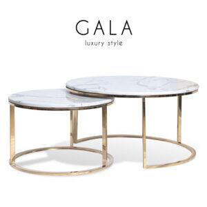 GALA (กาล่า) โต๊ะกลาง โครงขาเหล็ก ท็อปหินอ่อน