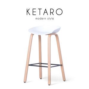 KETARO (คีทาโร่) เก้าอี้บาร์ โครงขาเหล็ก เบาะโพลีพรอพไพลีน