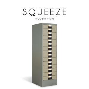 SQUEEZE (สควอซ) ตู้เก็บเอกสาร โครงเหล็ก สำหรับเก็บเอกสาร 10-15 ช่อง สไตล์โมเดิร์น ขนาด : (10 ช่อง) W37.5 x D46.2 x H132.4 cm. / (15 ช่อง) W37.5 x D46.2 x H93.8 cm.