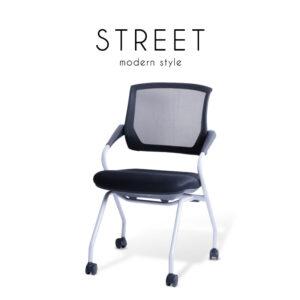 STREET (สตรีท) เก้าอี้สำนักงาน โครงขาเหล็ก เบาะผ้าตาข่าย