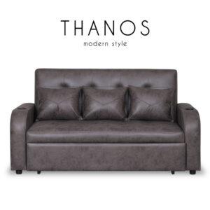THANOS (ธานอส) โซฟาหนัง PU ปรับนอนได้ สำหรับ 3-4 ที่นั่ง