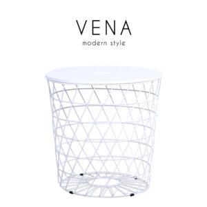VENA (วีน่า) โต๊ะกลาง โครงขาเหล็ก ท็อปไม้