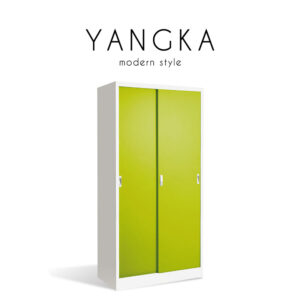 YANGKA (แยงก้า) ตู้เก็บเอกสาร โครงเหล็ก บานเลื่อน สไตล์โมเดิร์น ขนาด : W91.6 x D45.8 x H183 cm.
