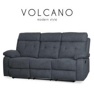 VOLCANO (วอลเค๊โน) เก้าอี้พักผ่อน โครงเหล็ก เบาะผ้า ปรับนอนได้ สำหรับ 3 ที่นั่ง