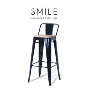 SMILE (สไมล์) เก้าอี้บาร์ โครงขาเหล็ก มีทั้งมีเบาะไม้ และไม่มีเบาะไม้ สไตล์ลอฟท์ ขนาด : W30 x D30 x H96 cm. เหมาะสำหรับใช้เป็นเก้าอี้บาร์คู่กับโต๊ะบาร์